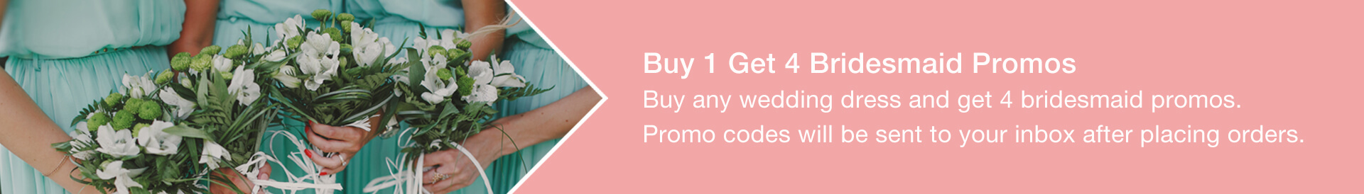 Buy 1 get 4 Bridesmaid promo